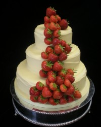 white choc and strawberries